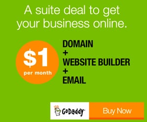 Use Godaddy Promo Code PLUGINGOT to get the full package for just $1 a month!