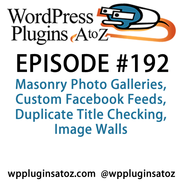 WordPress Plugins A-Z #192