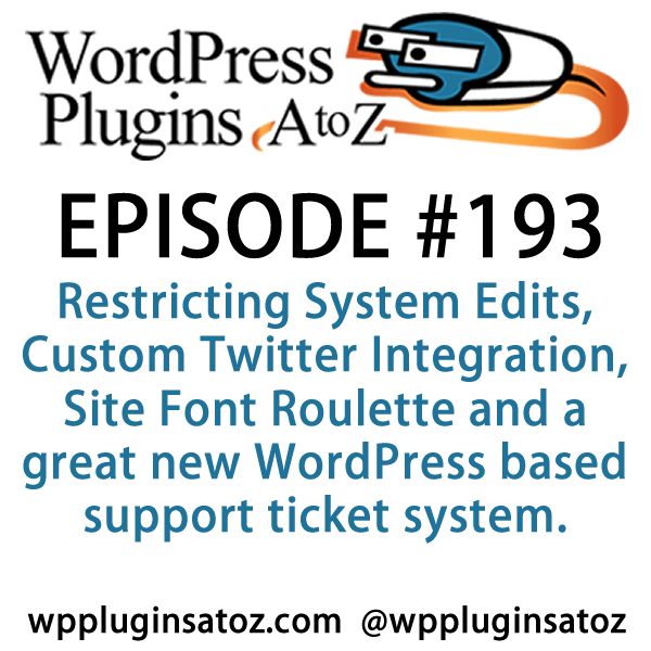 WordPress Plugins A-Z #193