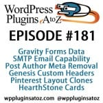 WordPress Plugins A-Z #181