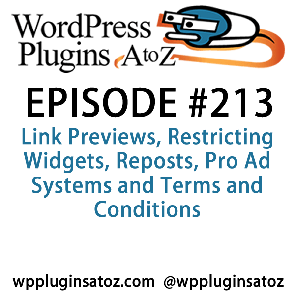 Link Previews, Restricting Widgets, Reposts, Pro Ad Systems and Terms and Conditions