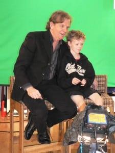 My son Ian on the set
