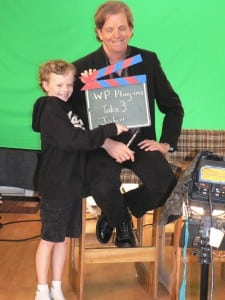 My son Ian with the clapboard