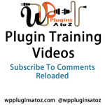 Training Video for Subscribe To Comments Reloaded Plugin