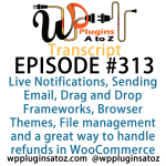 Transcript of WordPress Plugins A-Z #313 Live Notifications, Sending Email