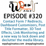 WordPress Plugins A-Z #320 Post Title Formatter, 3D Text Effects