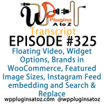 Transcript of Episode 325 WP Plugins A to Z