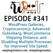 It's Episode 341 and we've got plugins for WordPress Galleries, Cryptocurrency, Advanced Gutenberg, WooCommerce Shipping Distance, and Disabling Multiple Processes for Improved Site Speed. It's all coming up on WordPress Plugins A-Z!