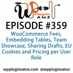 WordPress Plugins A to Z Episode 359 WooCommerce Fees, Embedding Tables