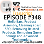 Transcript of Episode 348 WP Plugins A to Z