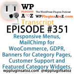 Transcript of Episode 351 WP Plugins A to Z