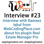 Interview Show 23 with Rameez Iqbal from WebCodingPlace.com