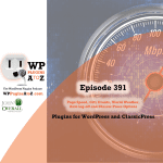 Page Speed, City Events, World Weather, Auto log-off plugins in Episode 391