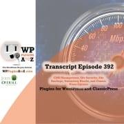 transcript of episode 392