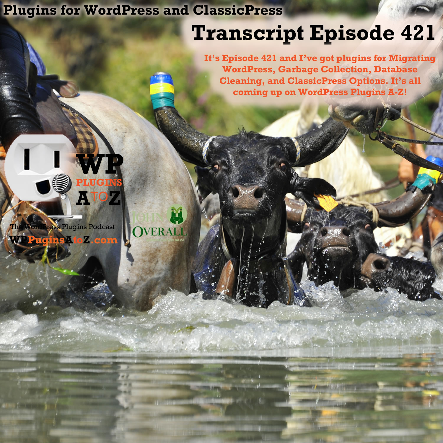 It's Episode 421 and I've got plugins for Migrating WordPress, Garbage Collection, Database Cleaning, and ClassicPress Options, all coming up on WordPress Plugins A-Z!