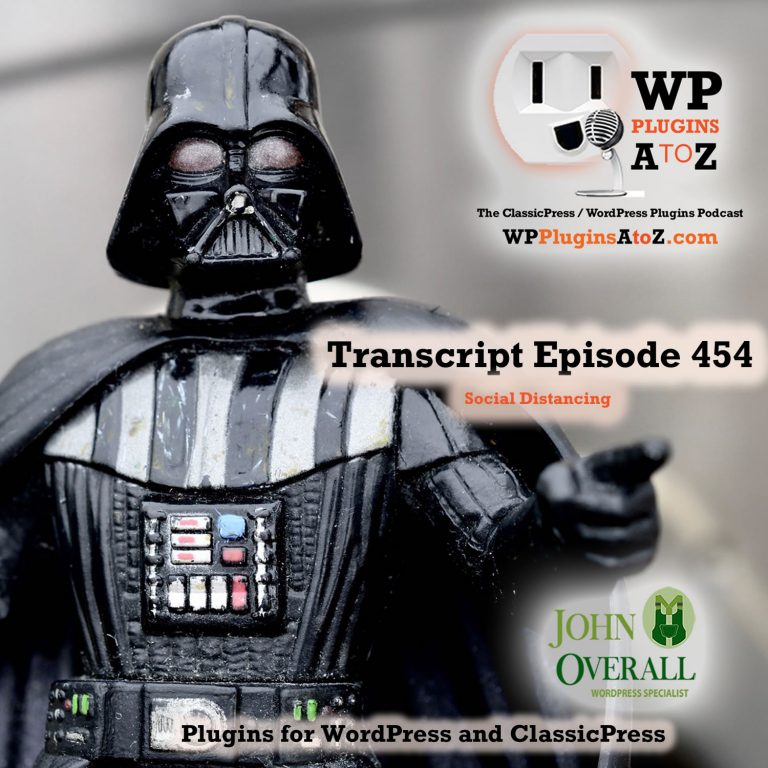It's Episode 454 with plugins for Membership, File Management, Log-out Management, and ClassicPress Options. It's all coming up on WordPress Plugins A-Z!