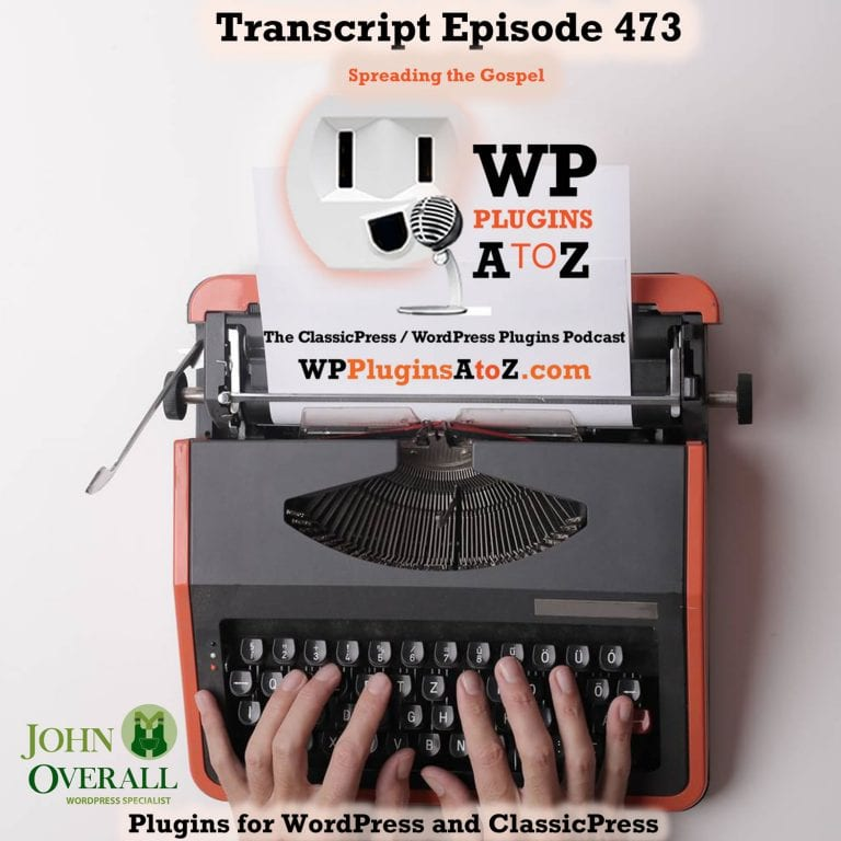 It's Episode 473 with plugins for AutoBlogging, SEO for the insane, Custom URL shortener, Session limitations, Google Photos, GuestBooks and ClassicPress Options. It's all coming up on WordPress Plugins A-Z!