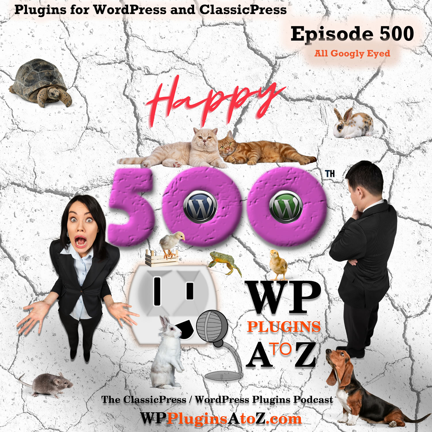 All Googly Eyed It's Episode 500 - We have plugins for Bitcoin, Animated Menu, Getting Sticky, Media Organization, Crypto Conversion, Multi Currency ....., and ClassicPress Options. It's all coming up on WordPress Plugins A-Z! Animated Hamburger for Elementor, Accept Bitcoin, Crypto Converter ⚡ Widget, All-in-one Floating Contact Form, Call, Chat, and 50+ Social Icon Tabs – My Sticky Elements, Multi Currency for WooCommerce – The best free currency exchange plugin – Run smoothly on WooCommerce 4.x, Bulk edit image alt tag, caption & description – WordPress Media Library Helper by Codexin
