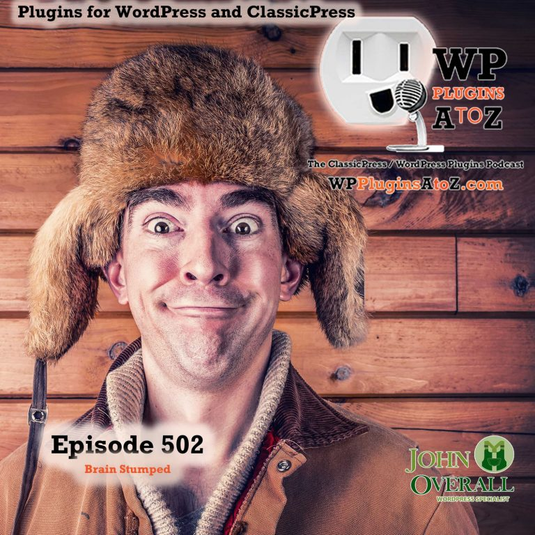 Brain Stumped It's Episode 502 - We have plugins for Wasting Time, Shipping Goods, Random Text, Meetings, Logs, Teasing the AI....., and ClassicPress Options. It's all coming up on WordPress Plugins A-Z! Embed Solitaire Iframe, Canada Post Shipping For WooCommerce, EventAgent.ai, Any Ipsum, Logtivity, MeetFox and ClassicPress options on Episode 502
