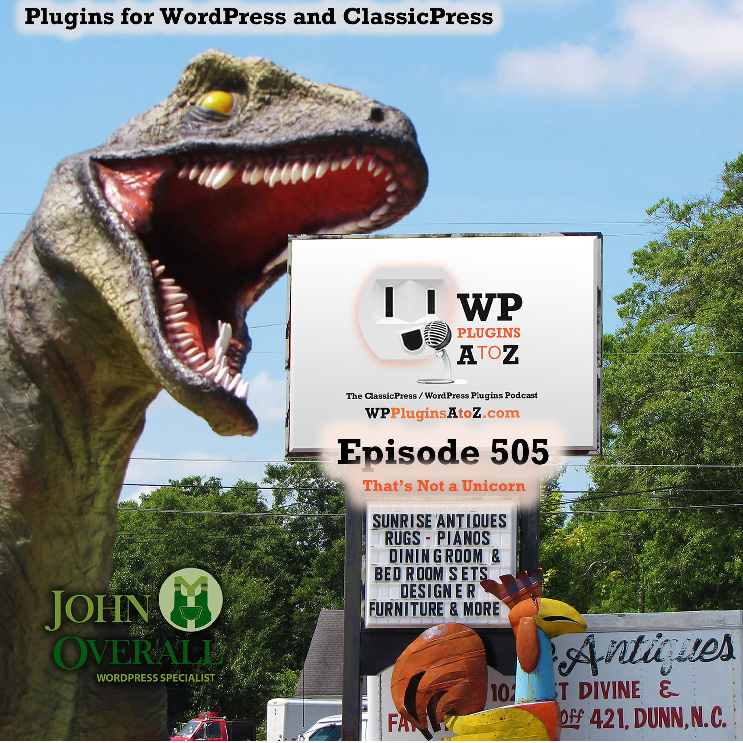 That's Not a Unicorn It's Episode 505 - We have plugins for Pulling off April Fools day; including Unicorns, Fresh Eggs, Seeing in Black & White, Making it all Disappear....., and ClassicPress Options. It's all coming up on WordPress Plugins A-Z! WP Pranks, Cornify for WordPress, Easter Egg Drop, WP Pranks, Now You See Me!, Zing! and ClassicPress options on Episode 505