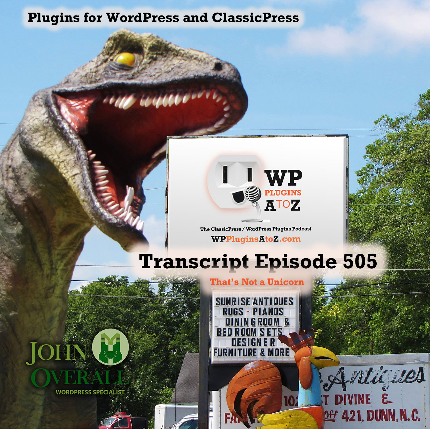 That's Not a Unicorn It's Episode 505 - We have plugins for Pulling off April Fools day; including Unicorns, Fresh Eggs, Seeing in Black & White, Making it all Disappear....., and ClassicPress Options. It's all coming up on WordPress Plugins A-Z!