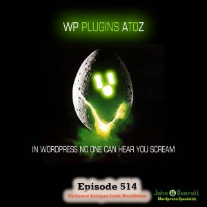 It's Episode 514 - We have plugins for Showing Your Sales, Playing with Pinterest, Inserting Code, Stock Control..., and ClassicPress Options. It's all coming up on WordPress Plugins A-Z!