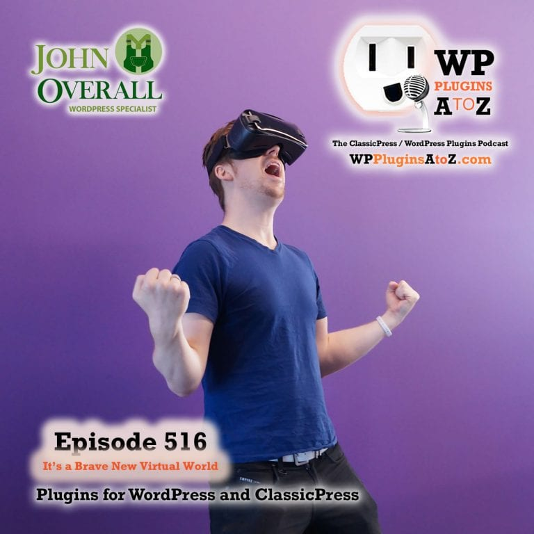 It's Episode 516 - We have plugins for Hero's, Videos, Pride, Image management, Stop Spammers, Wasting time ... and ClassicPress Options. It's all coming up on WordPress Plugins A-Z!